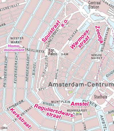 Gay streets in Amsterdam